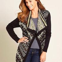 Nwt 58 style&co Women's Multi-Color Asymmetrical Hem Sweater Cardigan Sz Xl Photo