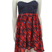 Nwt 59.50 Element Seville Dress Red Navy Size S Photo