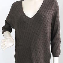 Nwt 59 Talbots Cable Knit v Neck Sweater Size Xl Photo