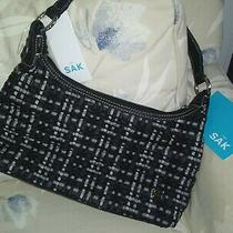 Nwt (59) the Sak Black Tweed Hobo Tote.  U49 Photo