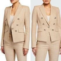 Nwt 595 Veronica Beard Diego Dickey Jacket Blazer Tan Plaid Print Work Size 6 Photo