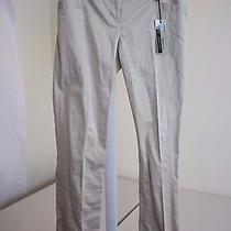 Nwt 60 Express Cotton Blend Columnist Barely Boot Beige Dress Pants Size - 00 Photo