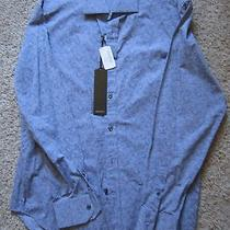 Nwt 65 Mens J Campbell Los Angeles Silver  Long Sleeve Button Front Shirt Lg Photo