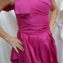 Nwt 695 Robert Rodriguez Taffeta One Shoulder Dress- 2 Photo