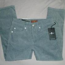 Nwt 7 for All Mankind Gray Slim Straight Leg Corduroy Pants Size 4 Msrp 59.00 Photo