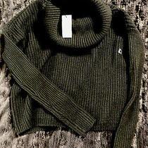 Nwt 70 Express Black Cropped Turtleneck Sweater Size Xs Photo