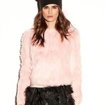 Nwt 725 Milly Rabbit Fur Sweater in Blush Runway Color Size Small  Photo