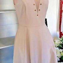 Nwt 78 Express Sleeveless Textured Knit Fit & Flare Dress White Size Xs No Belt Photo