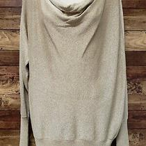 Nwt 79 Chicos Ceara Shine Sweater Size 2 (L/12) Gold Sparkle Stretch Photo