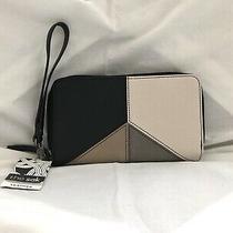Nwt 79 the Sak Womens Silverlake Black & White Leather Zip Around Phone Wallet Photo