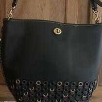 Nwt 795 Coach 1941 Duffle Link Detail Retail Handbag Patented Glove Tan Black Photo