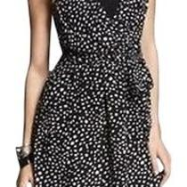 Nwt 80 Express Black/white Print Hi Lo Knotted Back Dress Size Small Photo