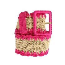 Nwt 820 Dolce & Gabbana Belt Wide Pink Raffia Woven Waist Viscose 80cm/32inch Photo