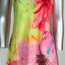 Nwt 88 Natori Nightgown Lingerie Private Luxuries Gala Pink Yellow Floral Sz S Photo