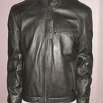 Nwt 895 Nordstrom Mens Andrew Marc Racer Leather Moto Jacket Insulated Lg Black Photo