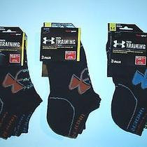 Nwt 9 Pair Ass't Boy's Under Armour No Show Youth Heat Gear Socks Youth Lg 1-4 Photo