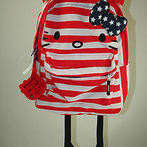 Nwt 96 Hello Kitty American Flag Backpack With Watch Set Photo