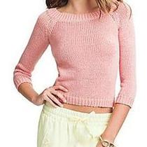 Nwt 98 Marciano Guess Blanche Cropped Sweater Knit Top Shirt Peach Pink Sz Xs 0 Photo