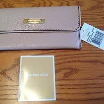 Nwt 98 Michael Kors Austin Flat Continental Blush Leather Wallet Phone Clutch Photo