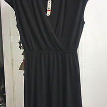 Nwt 99 Tommy Bahama Xs Black Vneck Drape Stretch Dress Photo