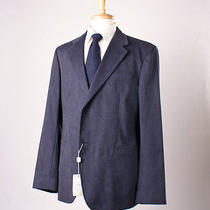 Nwt 995 Armani Collezioni Blue Micro Suede Blazer Sport Coat 44 R Side Vents Photo