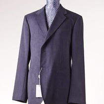 Nwt 995 Armani Collezioni Dark Slate Blue Micro Suede Blazer Sport Coat 44 R Photo