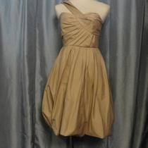 Nwt a.l.c. Bina Khaki Off One Shoulder Ruched Pleated Pocketed Dress Sz 4 - 550 Photo