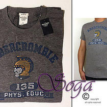 Nwt Abercrombie a&f Men Winch Pond Tee Graphic Color Fading Top Muscle Fit Szl Photo