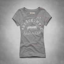 Nwt Abercrombie & Fitch a & F Shine Logo Tee T Shirt Top Gray M Medium Photo