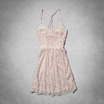 Nwt Abercrombie & Fitch Af Blush Light Pink Lace Tank Halter Summer Dress Xs  Photo