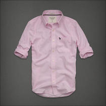 Nwt Abercrombie & Fitch Classic L/s Shirt Mens Medium Light Pink Microcheck Photo