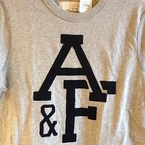 Nwt Abercrombie & Fitch Mens Gray T Shirt Size M Muscle Fit a & F Navy  Auth Photo