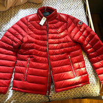 Nwt Abercrombie & Fitch Men's Puffer Jacket Red Size Xxl 2xl Photo