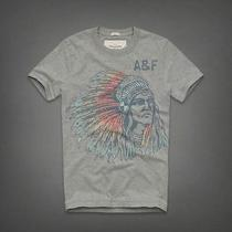 Nwt Abercrombie & Fitch Opalescent River Tee (Small) Heather Grey Photo