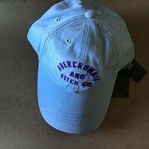 Nwt Abercrombie & Fitch Women's Logo Twill Cap Hat Blue One Size  Photo