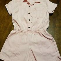 Nwt Abercrombie Kids Blush Pink Jumpsuit Romper Cute Shorts 5/6 Pockets Easter Photo