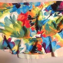 Nwt Abs Bikini Hipster Bottom Skirted Bikini Bottom Size 8 Photo