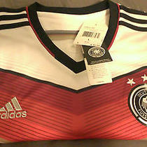 Nwt Adidas 2014 Germany Authentic Home Soccer Jersey Fifa Brazil World Cup (L) Photo