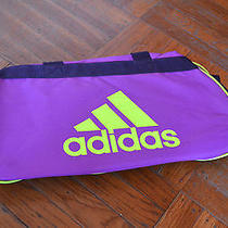 Nwt Adidas Diablo Small Duffel Limited Edition Rare Unique Purple Neon Gym Photo