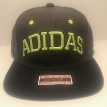 Nwt Adidas Fakt Snapback Cap Hat Neon Yellow & Gray Size Adjustable Photo