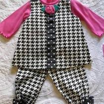 Nwt Adorable Baby Girl Peaches n' Cream Boutique 3pc Fall Outfit Set 9 12 Months Photo