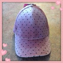 Nwt Adorable Betsey Johnson Blush and Black Heart Velvet Cap Hat Photo