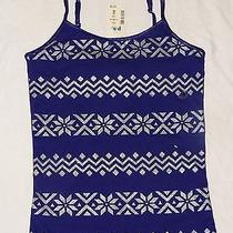 Nwt Aeropostale Awesome Purple Embellished Glitter Tank  Top Sz 10 New Photo