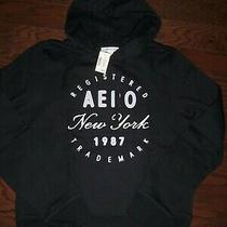 Nwt Aeropostale Black Classic Logo Hoodie Sweatshirt M Photo