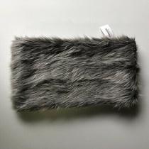 Nwt Aeropostale Grey & Silver Faux Fur Snood Infinity Scarf Wolf Winter Arctic Photo