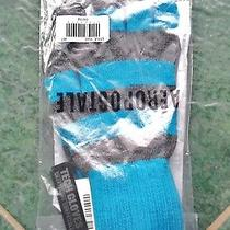 Nwt Aeropostale Men's Tech Gloves Blue/gray One Size Smart Phone Compatible  Photo