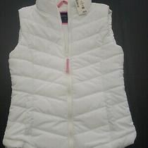 Nwt Aeropostale Quilted Puffer Down Vest Jacket Xs  White Warm  Photo