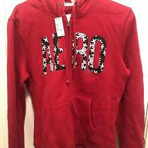 Nwt Aeropostale Snowflake Zip Hooded Sweater Hoodie Red Size L Photo