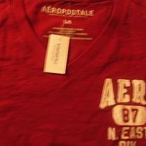 Nwt Aeropostale v Neck T Shirt (Barn Red) Men's Size Large  Photo