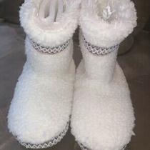 Nwt Aeropostale White Sherpa Bootie Slippers Warm Fuzzy Size S Photo